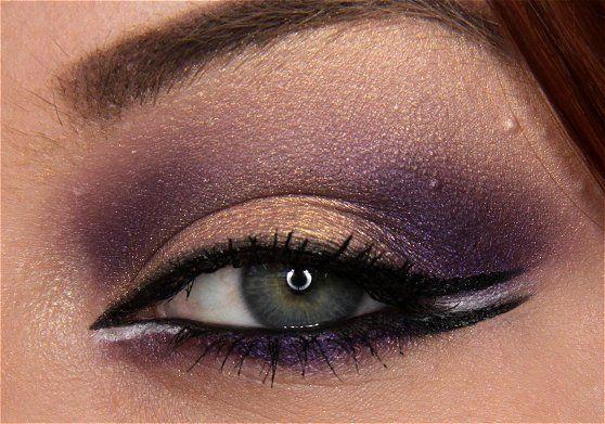 Gotta try this!: Arab Makeup, Purple Makeup, Cats Eyes, Eyes Shadows, Glamorous Makeup, Green Eyes, Gold Eyes, Eyes Makeup, Makeup Idea