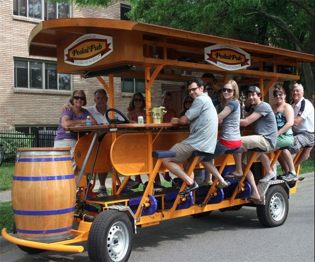 Pedal Tavern - a downtown Milwaukee mode of transportation while drinking beer!