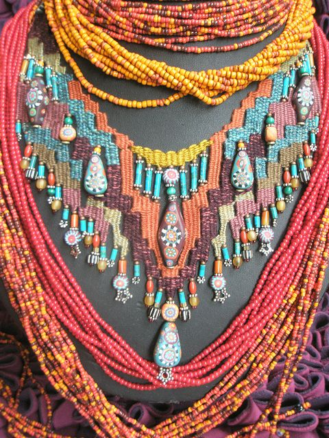 ~Fiber & Beads~ by AowDusdee, via Flickr