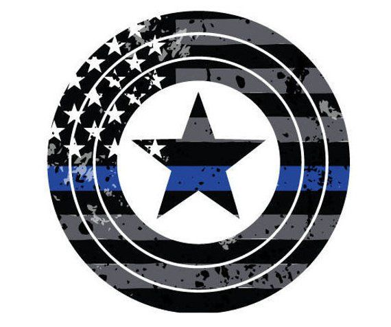 Law Enforcement Thin Blue Line Custom License Plate Police Emblem Texas Version