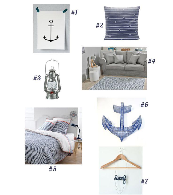 La sélection du Samedi : déco marine #selection #shopping