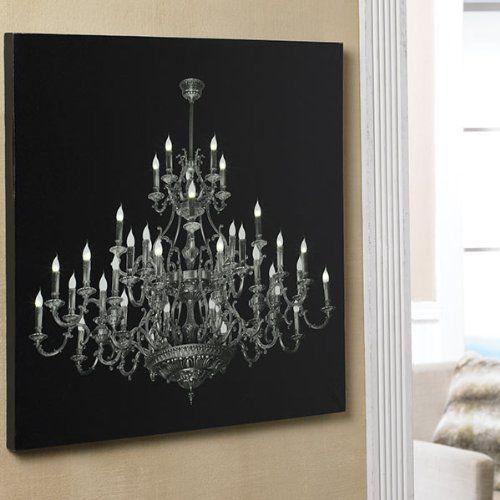LED Chandelier Canvas Torre & Tagus Designs