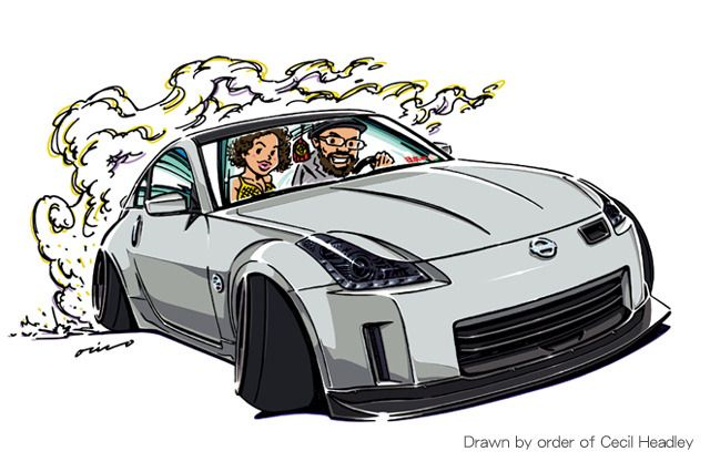 "CRAZY CAR ART ""350Z"" Drawn by order of Cecil Headley Thank you so much! original cartoon ""mame mame rock"" / © ozizo + Official web shop ""STAY CRAZY (in Society6)"" https://society6.com/mame_ozizo + Official web shop ""ozizo(in..."