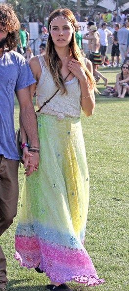 Isabel Lucas and boyfriend Angus Stone at the 2011 Coachella Music Festival in Indio, CA.