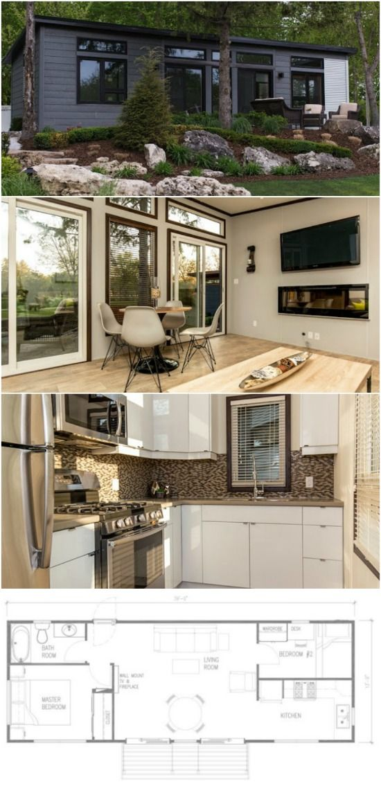 530 square foot boakes getaway tiny house at rochester place resort rh pinterest com