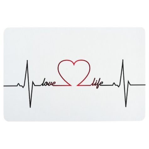 Heart beat with love life inspirational quote floor mat | Zazzle.com