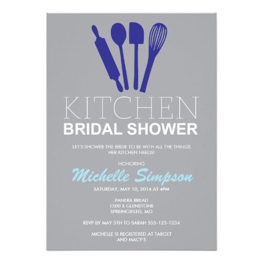1000 Images About Kitchen Bridal Shower Invitations On Pinterest