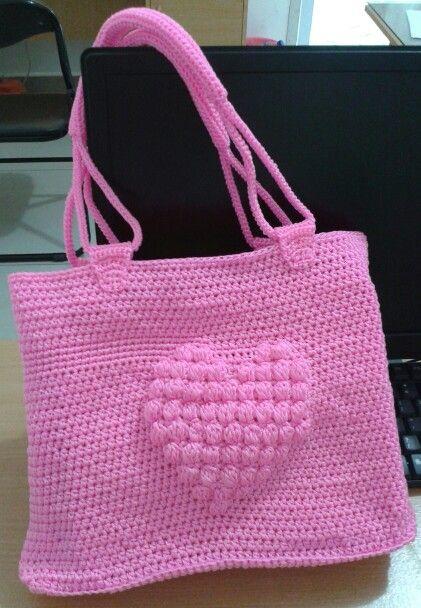 Romantic Pinky Love Bag. Material : nilon yarn