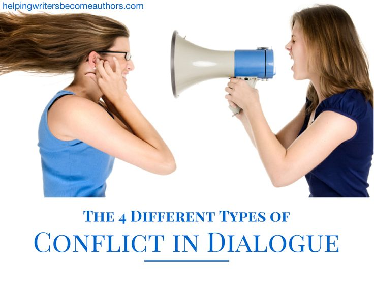 Four different—and equally vital—types of conflict in dialogue, which you can use to pop your story right off the page.