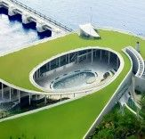 Singapore's Green-Roofed Marina Barrage Controls Flooding and Stores 10,000 Hectares of Rainwater | Pinterest | Eco architecture, Green roofs and Architecture