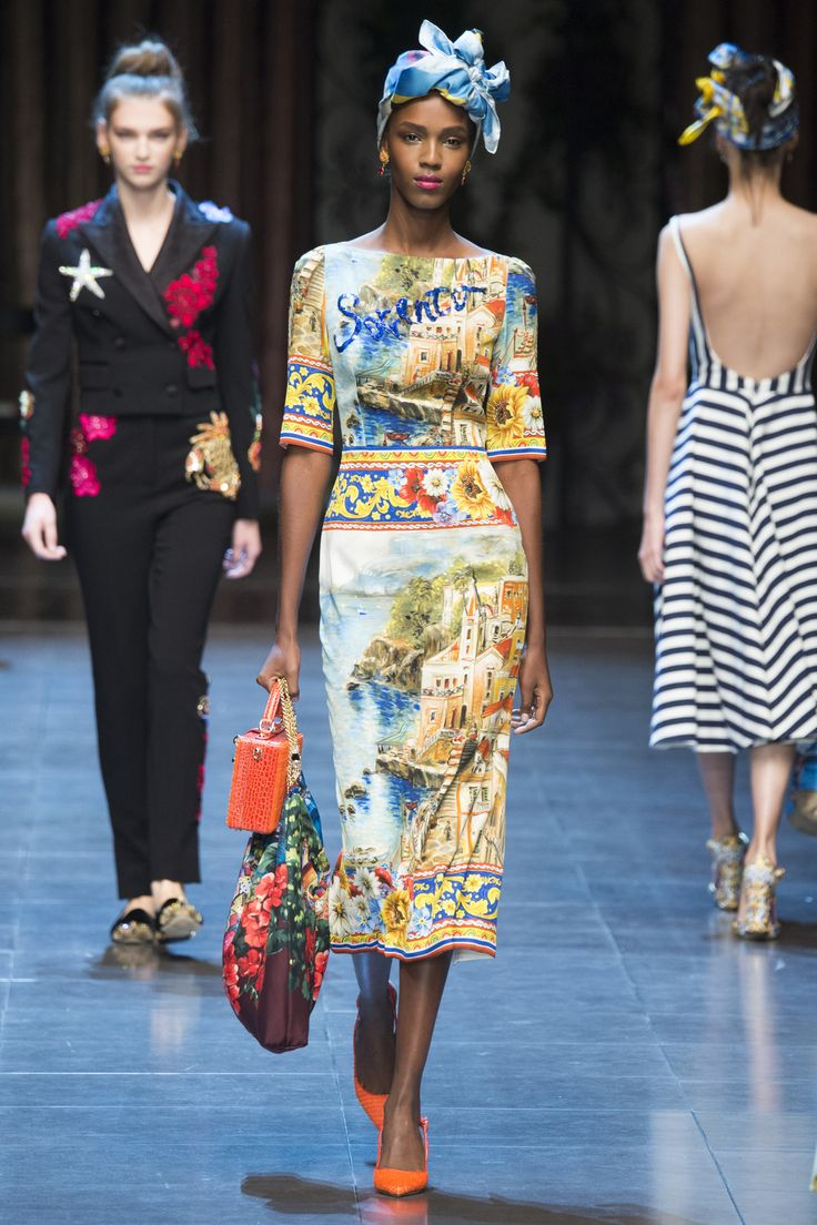 Dolce & Gabbana Spring/Summer 2016 Ready-to-Wear Collection via Designers Domenico Dolce & Stefano Gabbana Modeled by Leila Nda | Milan; September 27, 2015