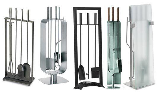 5 Sleek & Modern Fireplace Tools