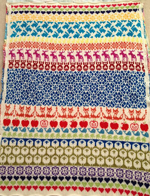 Ravelry: Project Gallery for Baby Blanket Latvian Garden pattern by The Needle Lady free