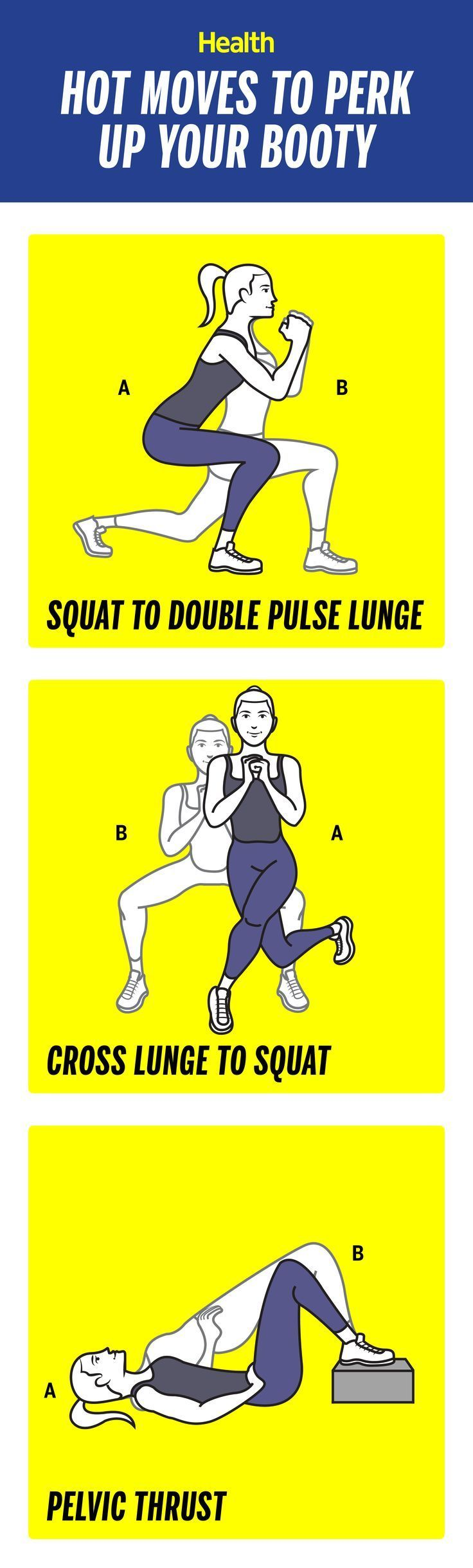 How to perk up your booty in 3 weeks: These moves will help to lift and tighten your butt in no time!   Health.com