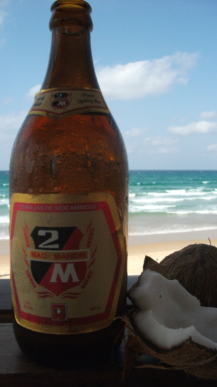 Cold ones on Tofo beach near Inhambane, Mocambique. The most at peace you could ever imagine to be.