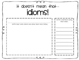 18 best FREE Idioms Printables images on Pinterest