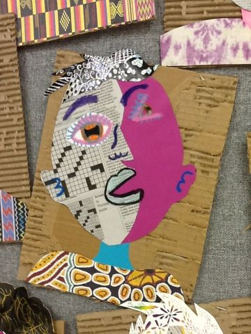 Art at Becker Middle School: Picasso portraits revisited. Collage