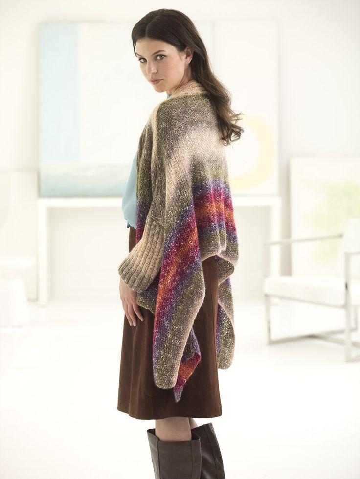 Knitting Cardigan Tutorial : Lion brand shawl in a ball rio rancho cardigan how to knit