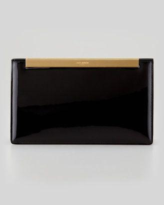 Saint Laurent Lutetia Patent Leather Clutch Bag