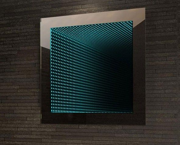 Give Your Plain Bathroom Some Added Appeal By Creating An Amazing Optical Illusion Using This LED Infinity Mirror