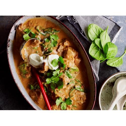Peppered pork curry recipe - By Australian Women's Weekly, Packed with bold flavour, this deliciously hearty peppered pork curry is perfect for any night of the week.