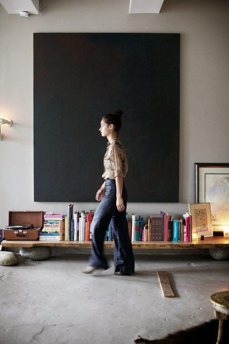 10 Rooms: 10 Minute Large Canvas Art #DIY via Rue  #interiordecor #interiordesign