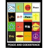 Peace and Co-Exist Poster - Cheap dorm art for girls