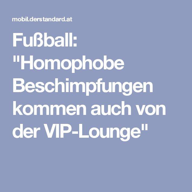 """Fußball: """"Homophobe Beschimpfungen kommen auch von der VIP-Lounge"""""""