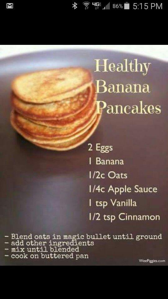 Healthy banana pancakes (Nutribullet)