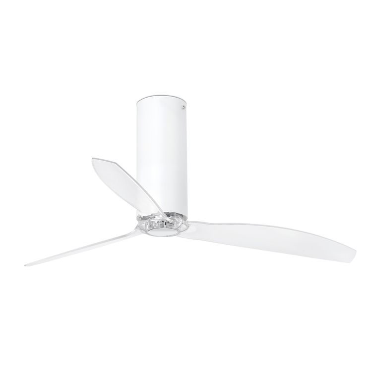 TUBE FAN Ventilador de techo blanco brillo/transparente con motor DC