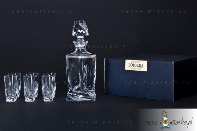 Zestaw do likieru Quadro Bohemia Crystalite, opakowanie