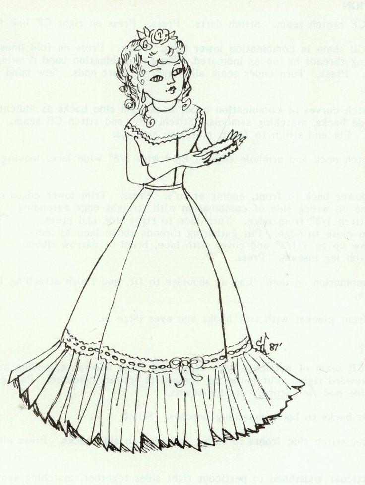 "16""ANTIQUE FRENCH FASHION LADY DOLL@1850 UNDERWEAR/CHEMISE/CORSET&COMBO PATTERN   eBay"