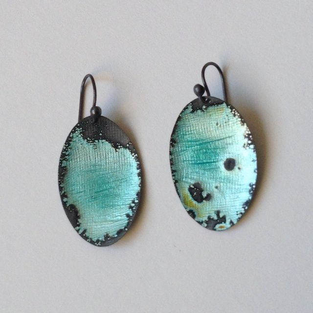 blue water earrings