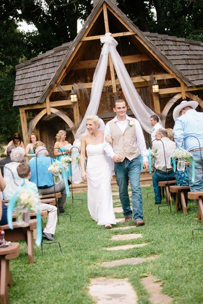 Host your ceremony in front of an outdoor wedding chapel.