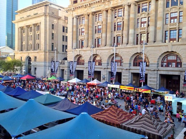 Twilight Hawkers Market, Fridays 5pm-9pm in Forrest Place, Perth CBD.