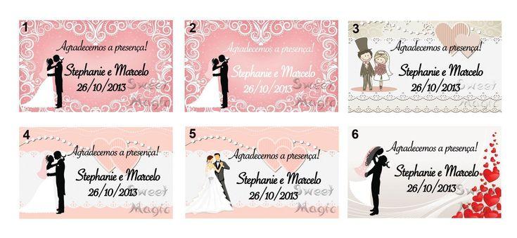 cartões de agradecimento para lembrancinhas de casamento