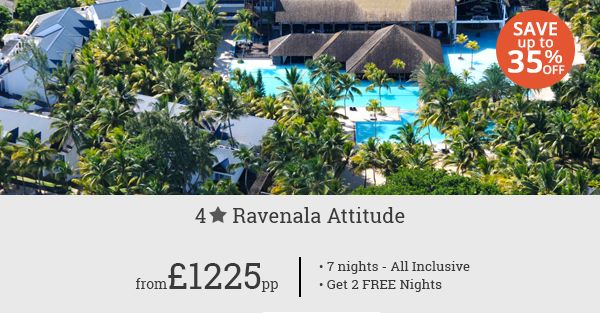 Get ready to explore the splendour of Mauritius at Ravelnala Attitude while saving up to 35%. Two complimentary nights!