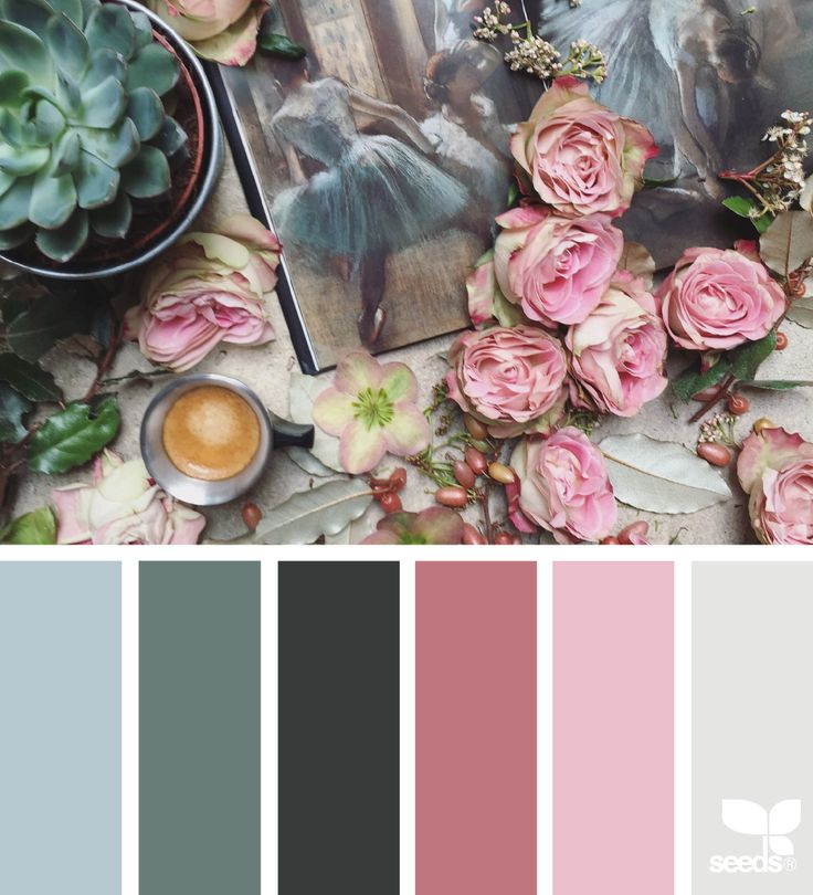 { color collage } image via: @clangart   Painterly Color Combo via Design Seeds