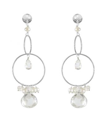 Rock Crystal Statment Earrings