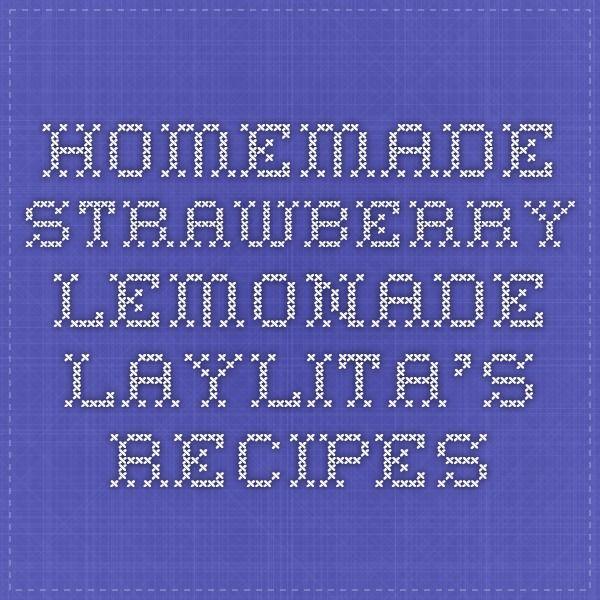 Homemade Strawberry Lemonade