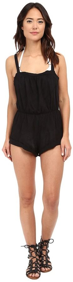 Beach Riot Night Rider Deco Romper Cover-Up