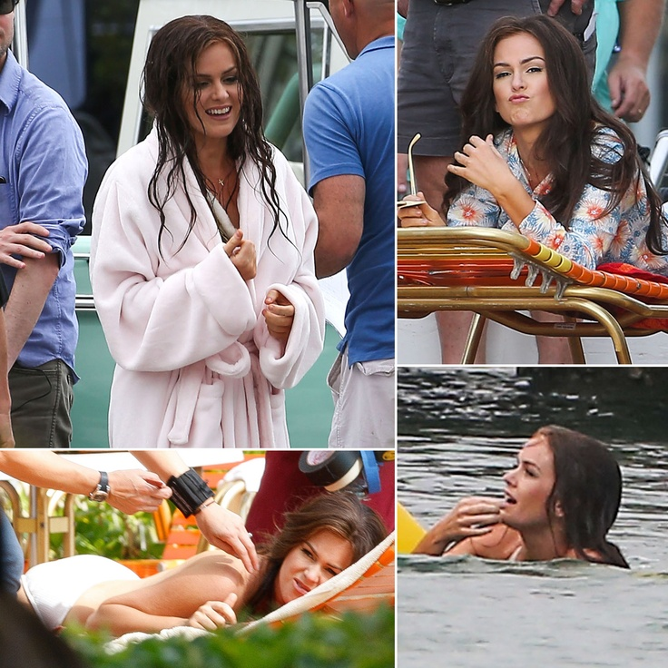 Bikini-Clad Isla Fisher Makes a Splash on Set | Photos