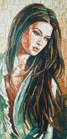 Christian Malto artwork - Painting in mosaic style.