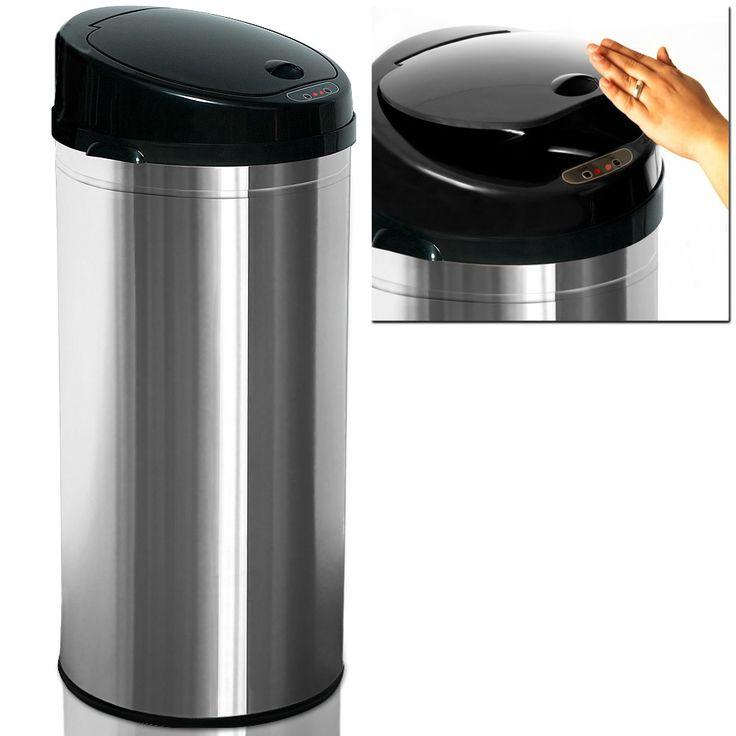 Sensor Mülleimer mit Automatik Edelstahl 56 l silber online kaufen bei deuba24online