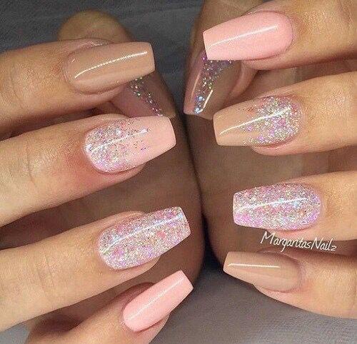 #nail #nude #pink