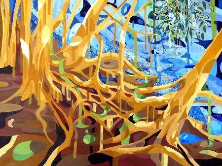 Patricia Mado  Narrabeen Lakes 2 - 2011  Oil on Canvas  120 x 90 cm