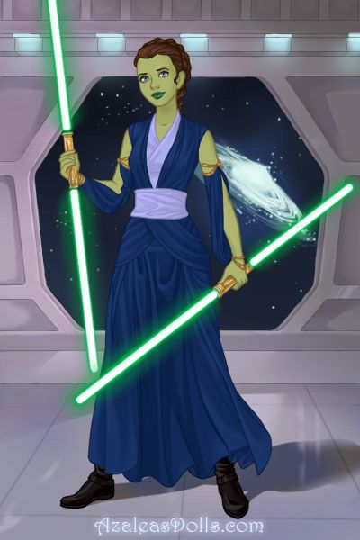 me as a jedi from Star Wars. I am seriously addicted to this game XD
