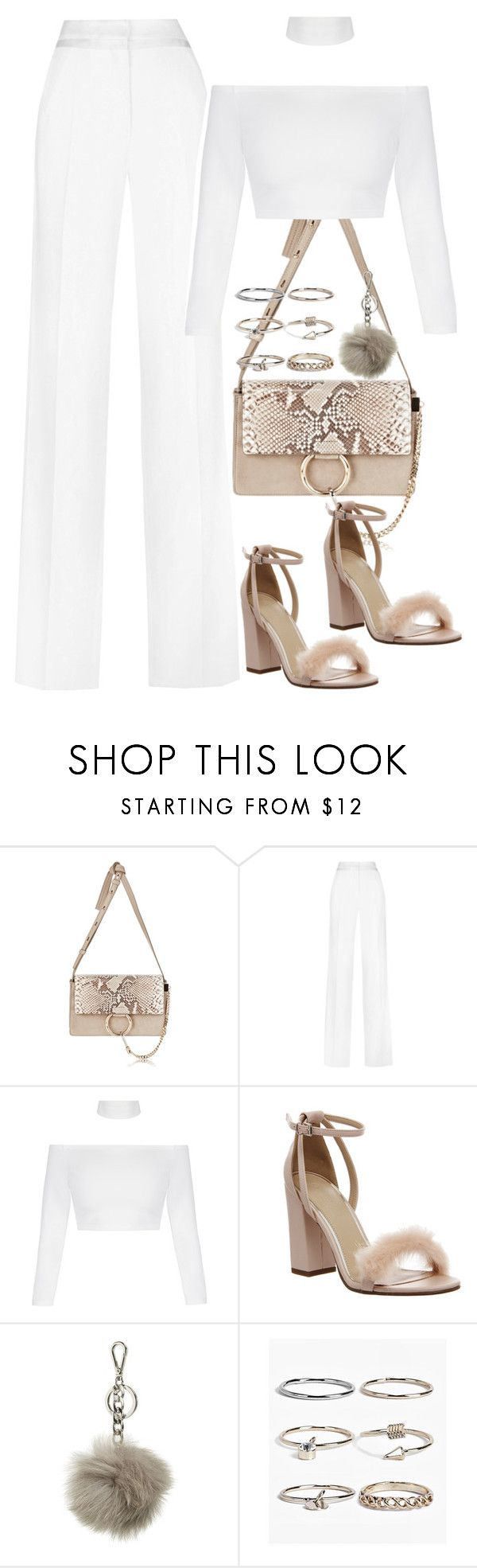 """Untitled #3923"" by amyn99 ❤ liked on Polyvore featuring Chloé, Thierry Mugler, Office, MICHAEL Michael Kors and Boohoo"