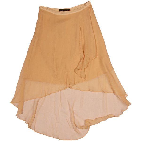 Бежевая юбка-драпе с хвостом, BCBG Max Azria ❤ liked on Polyvore featuring skirts, bottoms, beige skirt and bcbgmaxazria