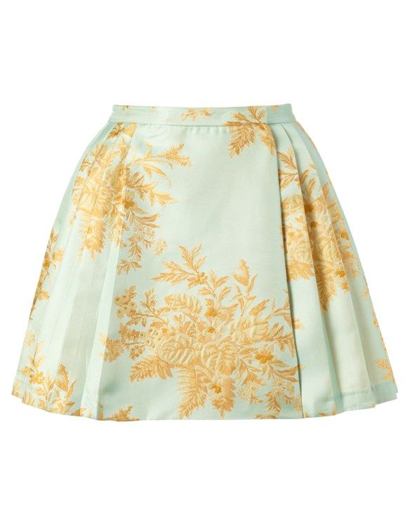 Zimmermann Light Blue Valiant Brocade Skirt